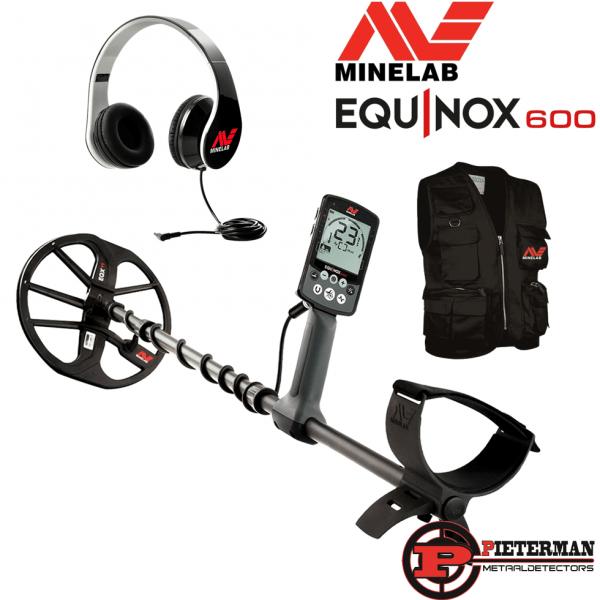 Minelab Equinox 600 met gratis hoofdtelefoonen vondstenvest