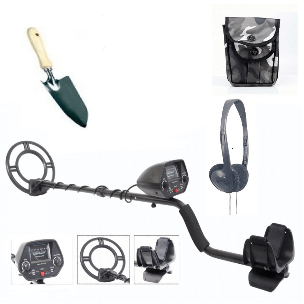 Black Power 25-2020 met tas, hoofdtelefoon en schep