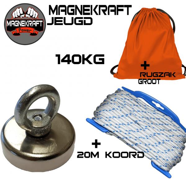 Neodymium MagneKraft Vismagneet 140KG