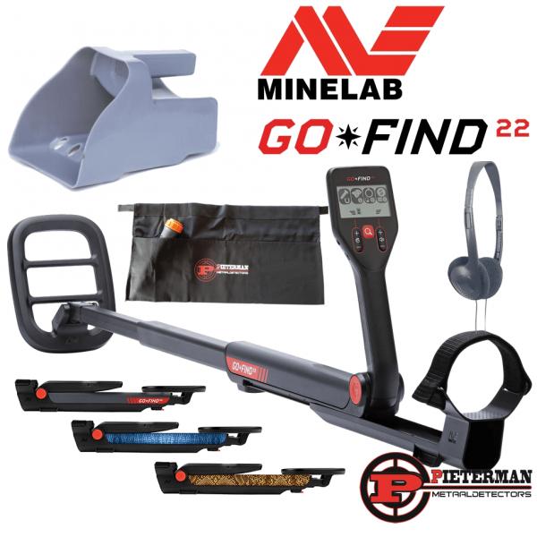 Minelab Go-Find 22 met vondstentas en zeefschep gratis.
