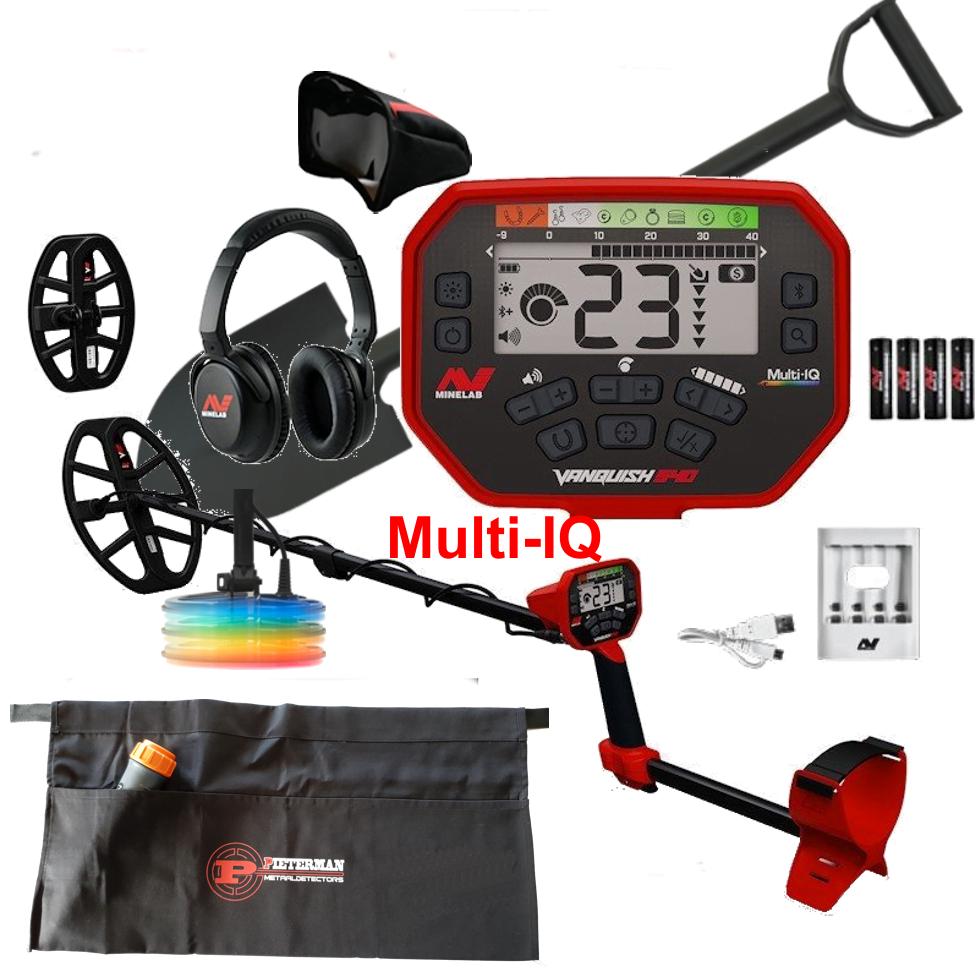 Minelab Vanquish 540 Multi-IQ Pro-Pack, met gratis schep en vondstentas
