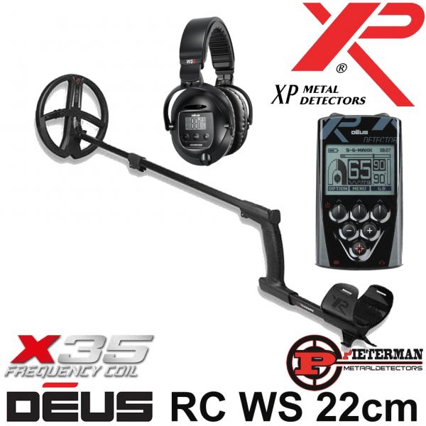 XP DĒUS X35 met 22,5cm schijf, bedieningsunit en WS5 hoofdtelefoon