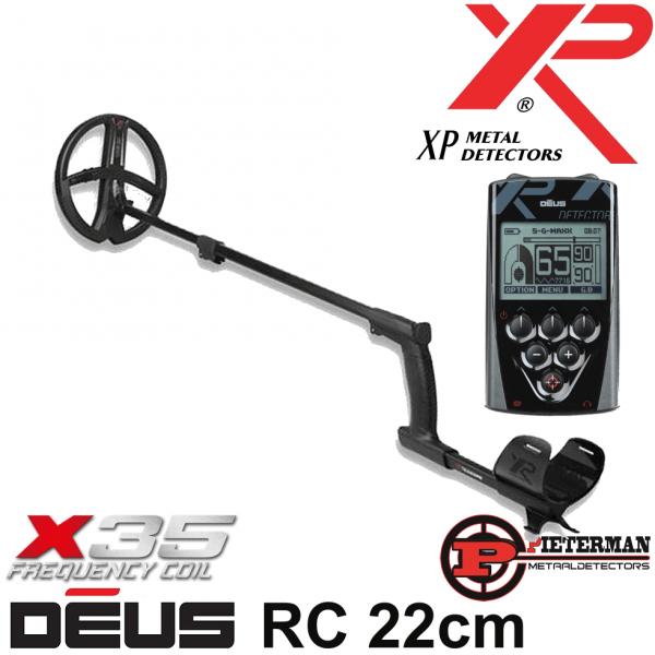XP DĒUS X35 met 22,5cm schijf en bedieningsunit.