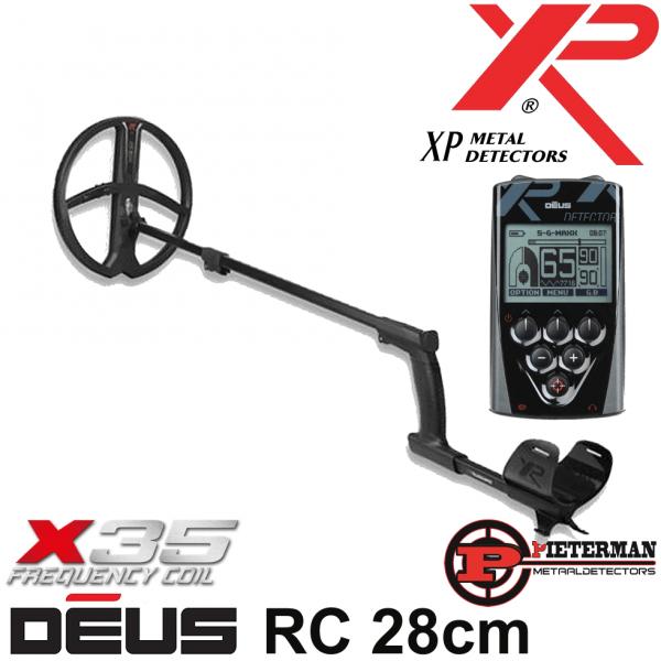 XP DĒUS X35 met 28cm schijf en bedieningsunit.