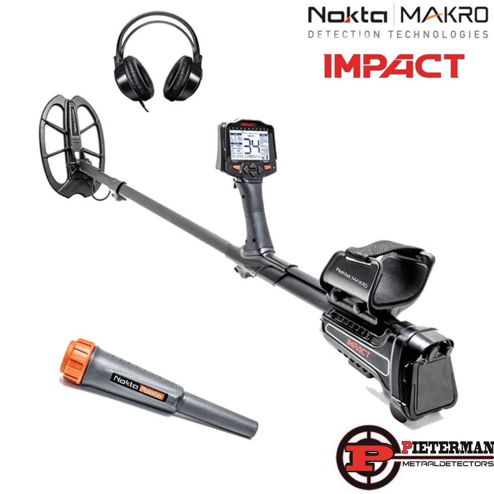 Nokta/Makro impact met gratis hoofdtelefoon en pinpointer.
