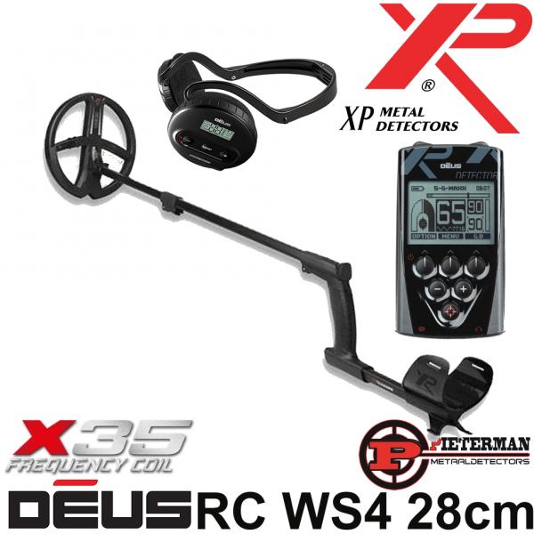 XP DĒUS X35 met 28cm schijf, bedieningsunit en WS4 hoofdtelefoon.