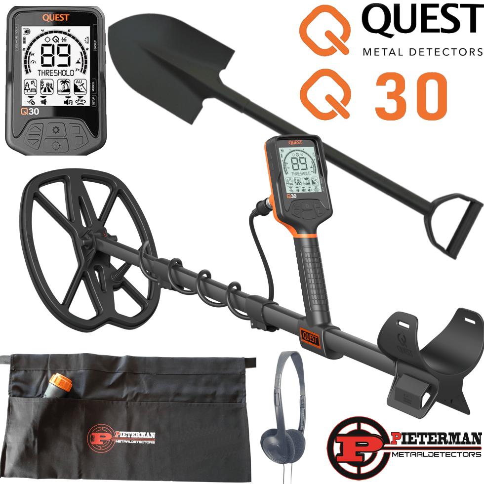 Quest Q30 met gratis  schep en vondstentas.