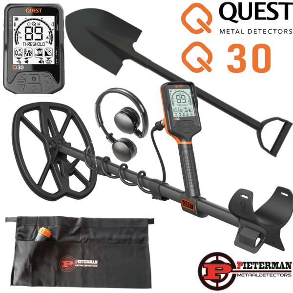 Quest Q30+ met draadloze hoofdtelefoon en gratis schep en vondstentas