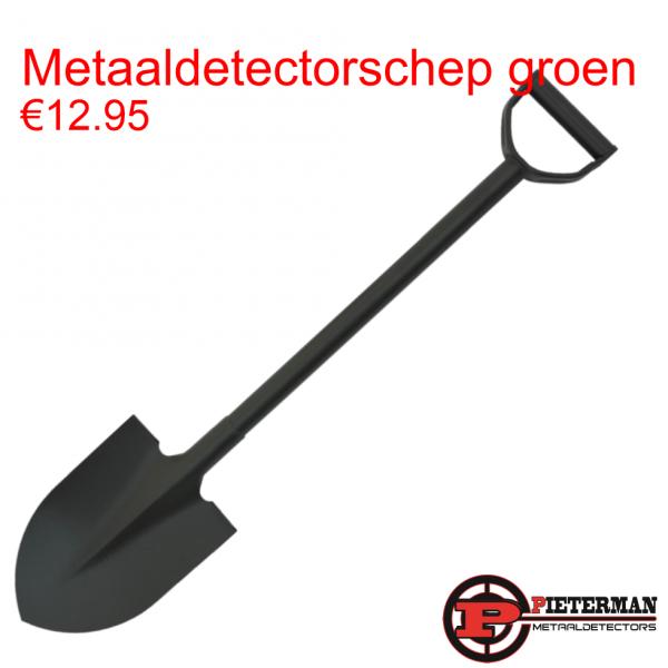 Metaaldetectorschep groen
