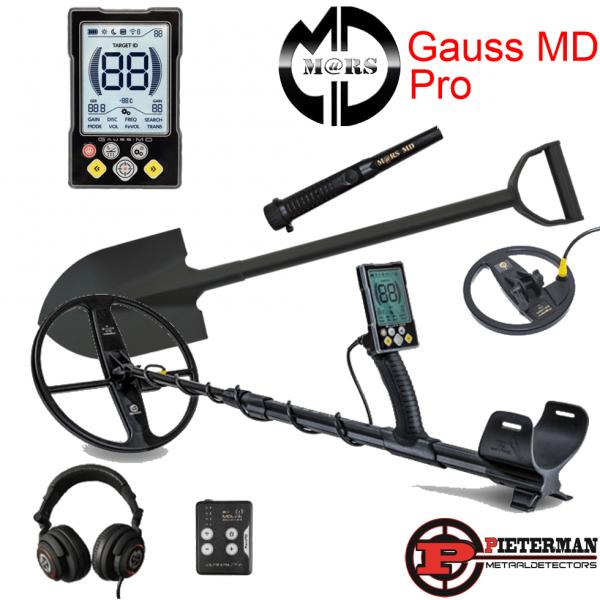 Gauss MD Pro met draadloze hoofdtelefoon, pinpointer en 6 inch schotel extra.