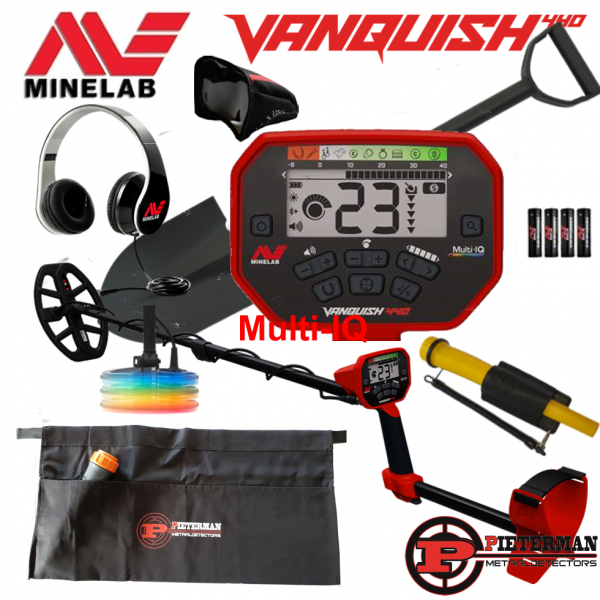 Minelab Vanquish 540 Multi-IQ, starterspakket met Marsmd pointer extra.