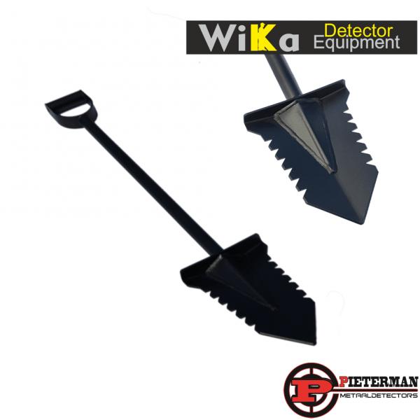 Wika Black Thunder gehard stalen schep 95cm met poedercoating.