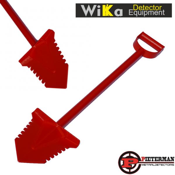 Wika Red Thunder gehard stalen schep 95cm met poedercoating.
