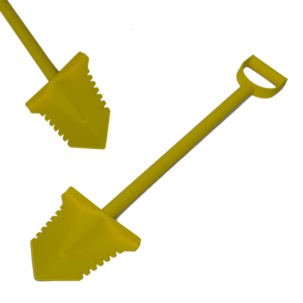 Wika Yellow Thunder gehard stalen schep 95cm met poedercoating.