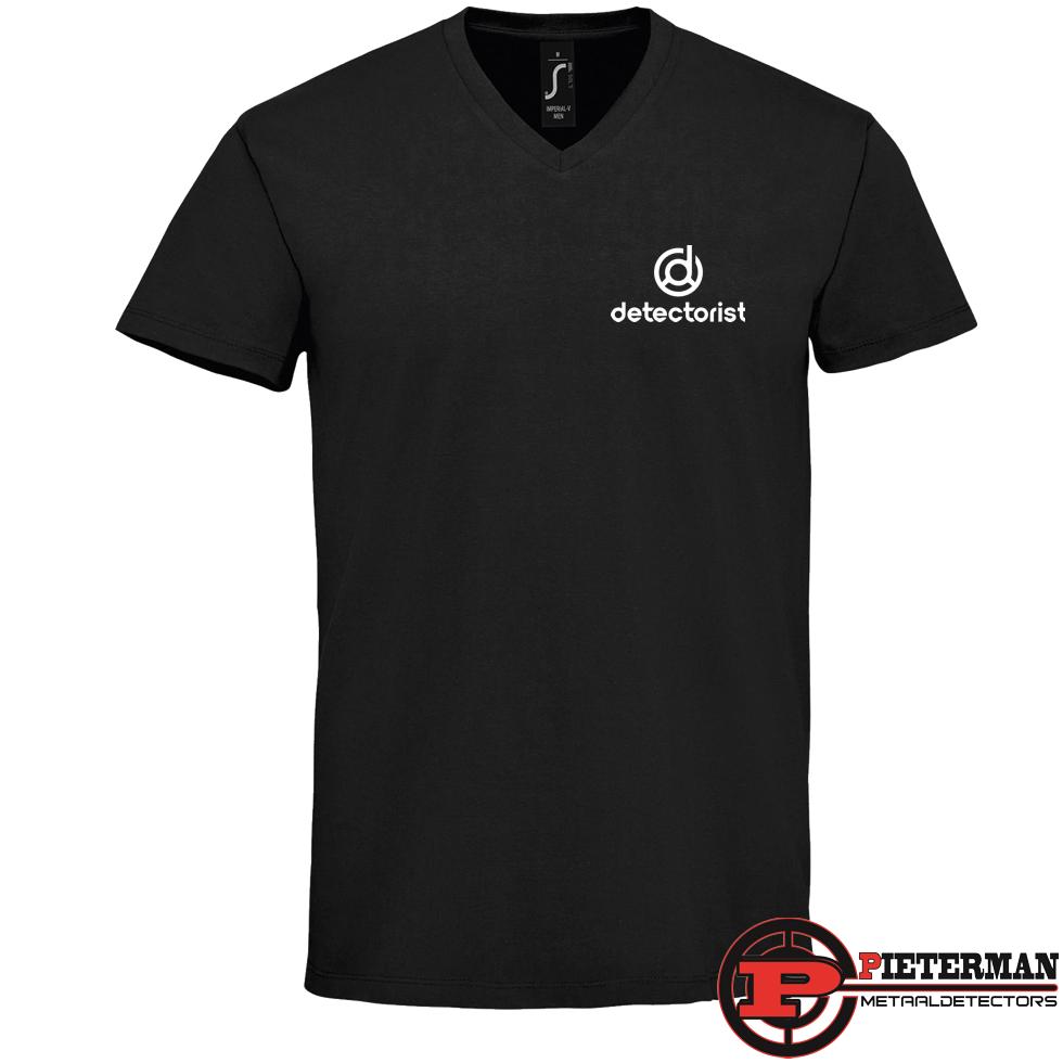 Detectorist V-hals T-shirt zwart