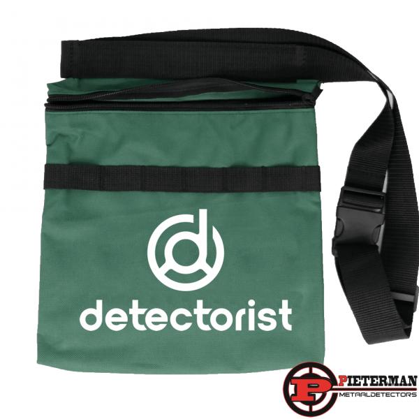 Vondstentas Detectorist groen , met zwarte, witte of roze opdruk.